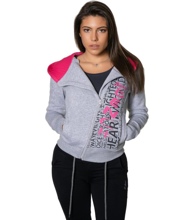 S-LINE ДАМСКИ CУИТШЪРТ ESSENTIALS SIDE-ZIP - 134.30